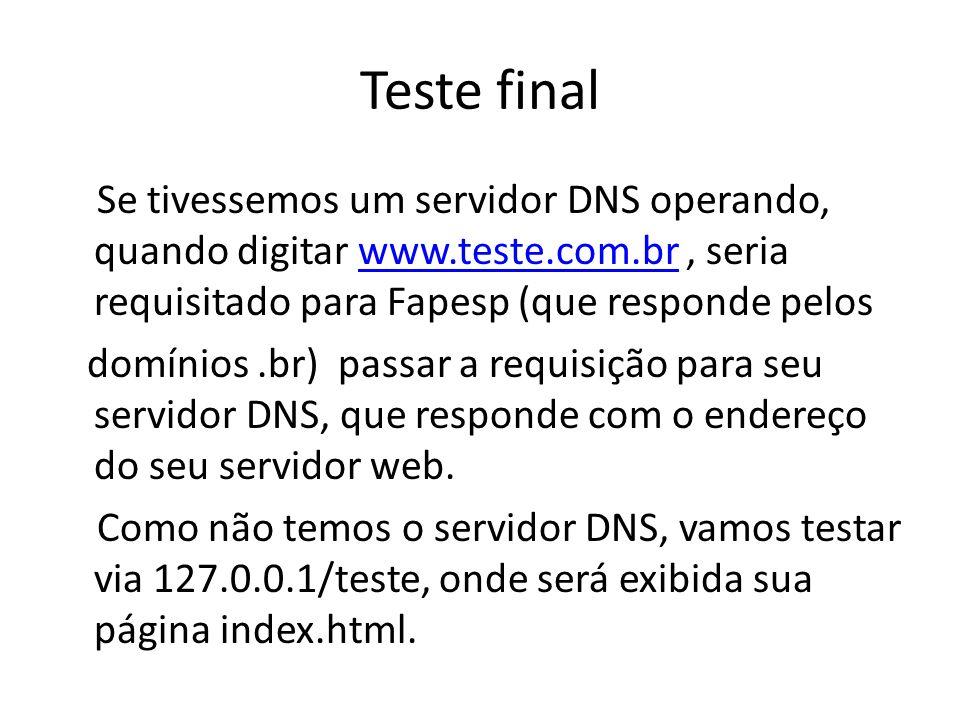 Teste final