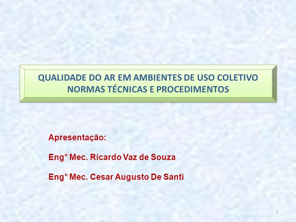 QUALIDADE DO AR EM AMBIENTES DE USO COLETIVO