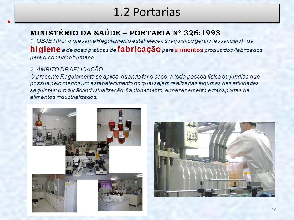 1.2 Portarias MINISTÉRIO DA SAÚDE – PORTARIA Nº 326:1993