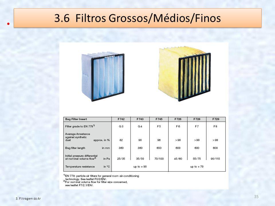 3.6 Filtros Grossos/Médios/Finos