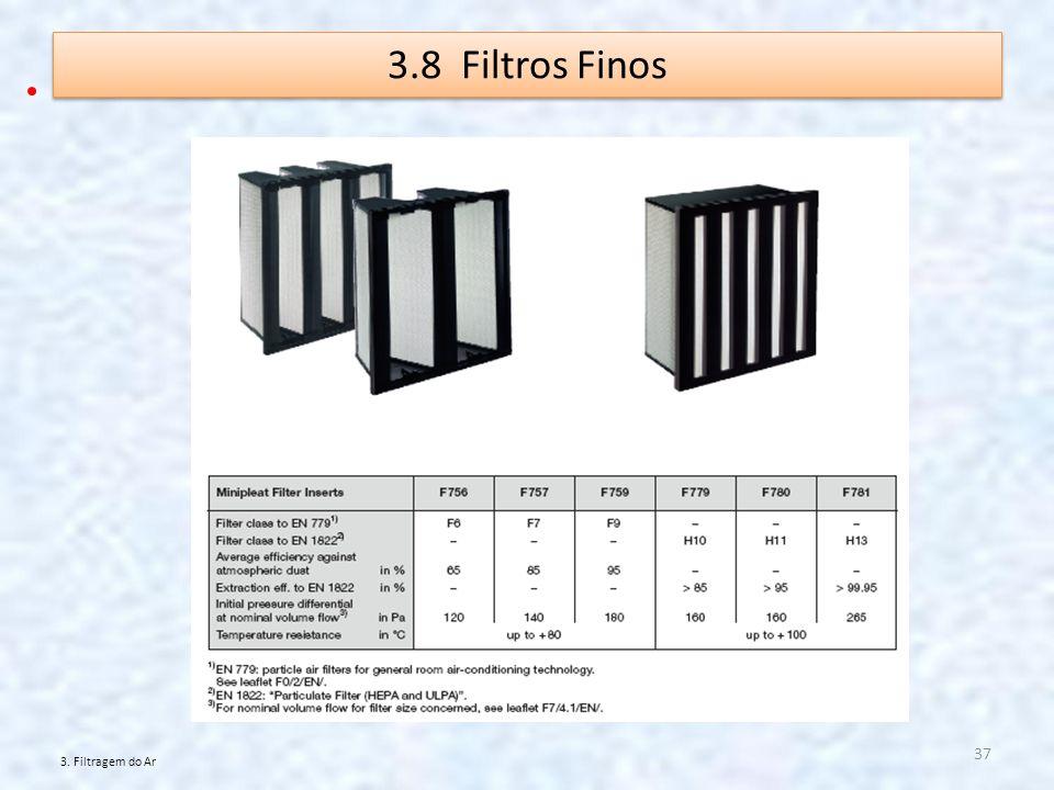 3.8 Filtros Finos 3. Filtragem do Ar