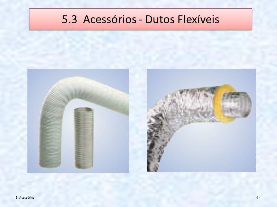 5.3 Acessórios - Dutos Flexíveis