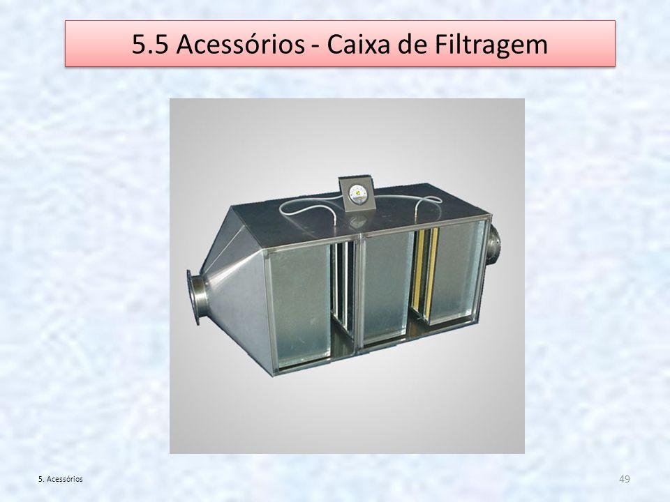5.5 Acessórios - Caixa de Filtragem