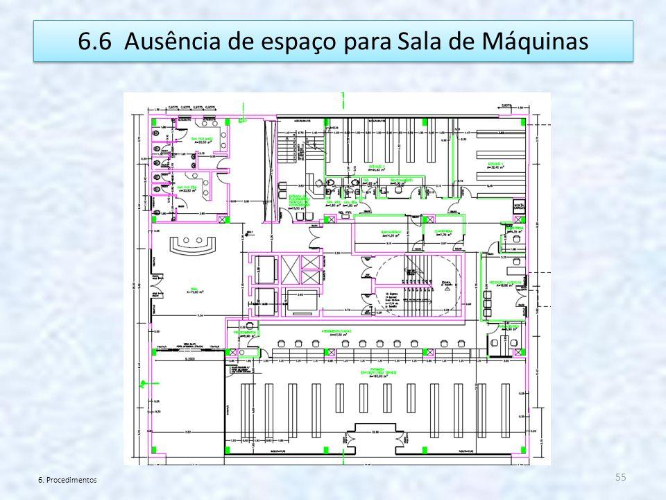 6.6 Ausência de espaço para Sala de Máquinas