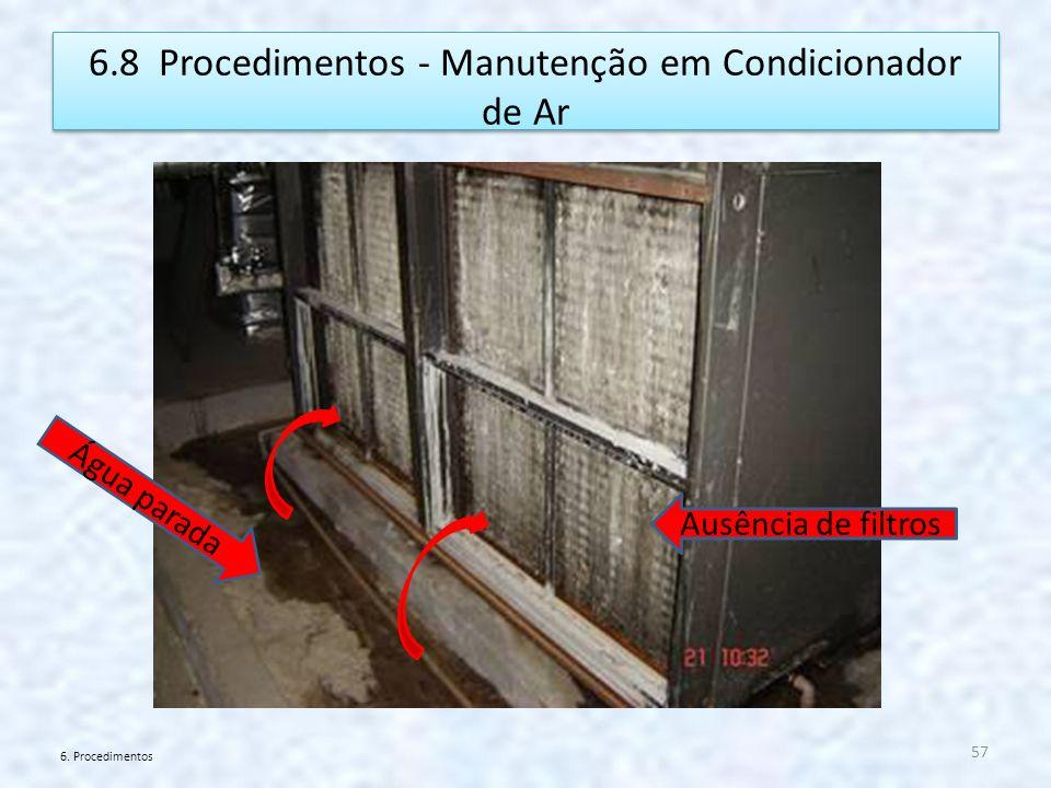 6.8 Procedimentos - Manutenção em Condicionador de Ar