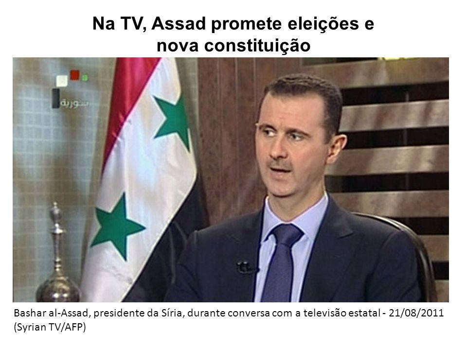 Na TV, Assad promete eleições e nova constituição