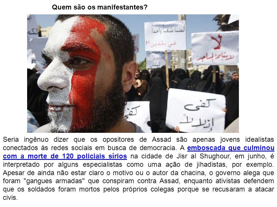 Quem são os manifestantes