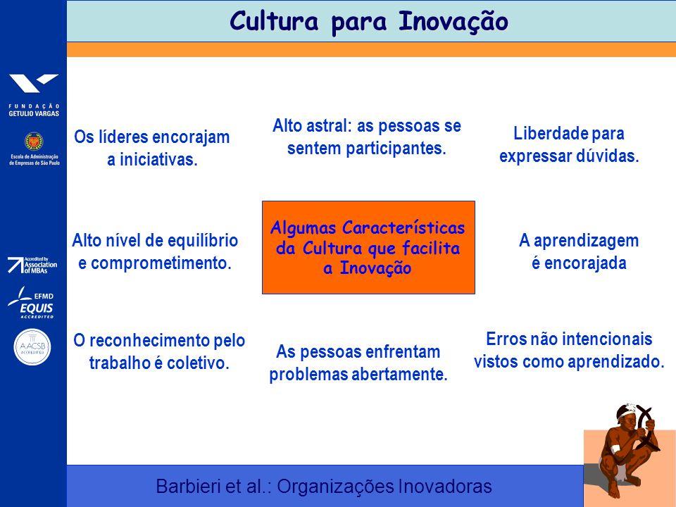 Cultura para Inovação Alto astral: as pessoas se sentem participantes.
