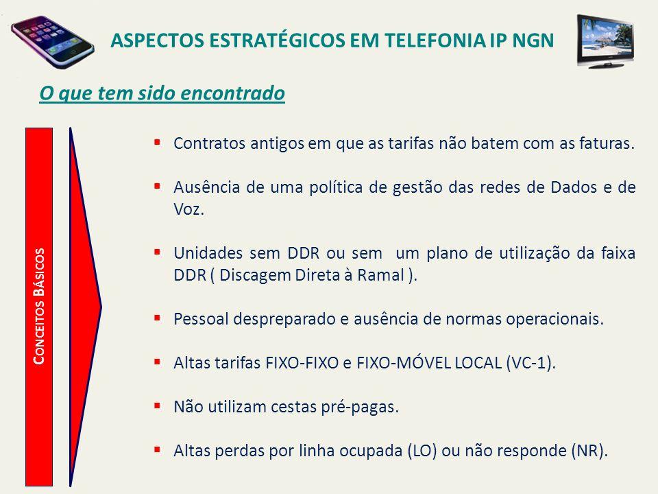 ASPECTOS ESTRATÉGICOS EM TELEFONIA IP NGN O que tem sido encontrado