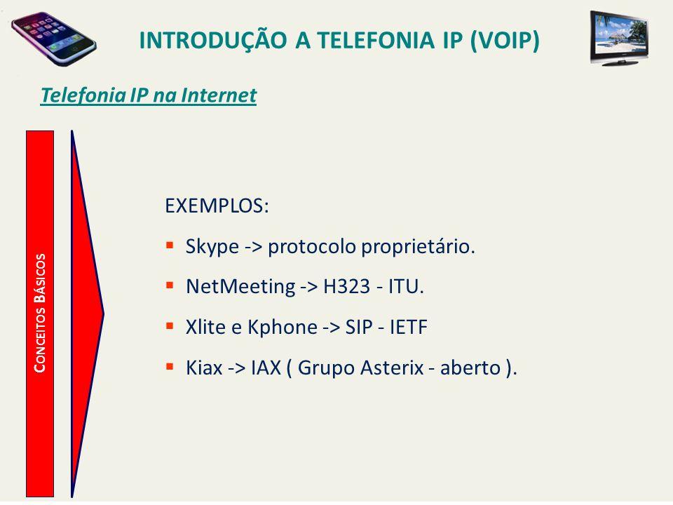 Introdução a Telefonia IP (VoIP) Telefonia IP na Internet
