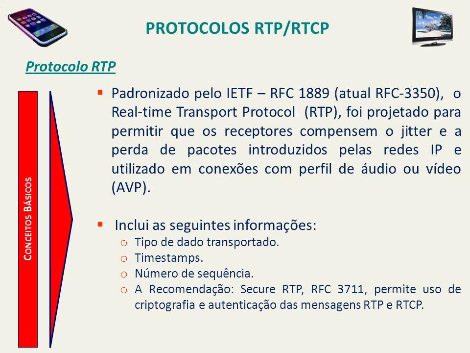 PROTOCOLOS RTP/RTCP Protocolo RTP