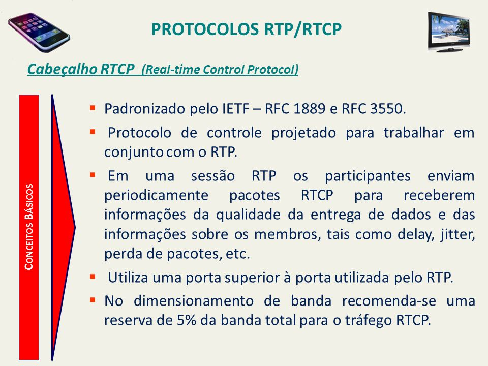 Cabeçalho RTCP (Real-time Control Protocol)