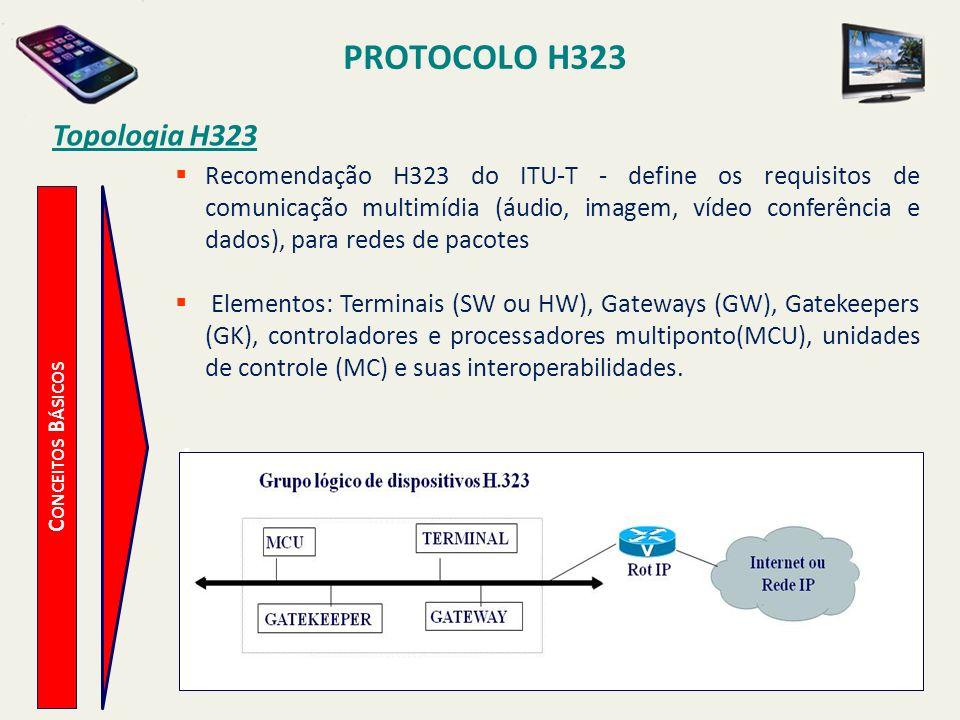 PROTOCOLO H323 Topologia H323