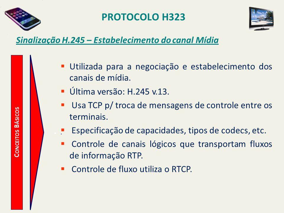 Sinalização H.245 – Estabelecimento do canal Mídia