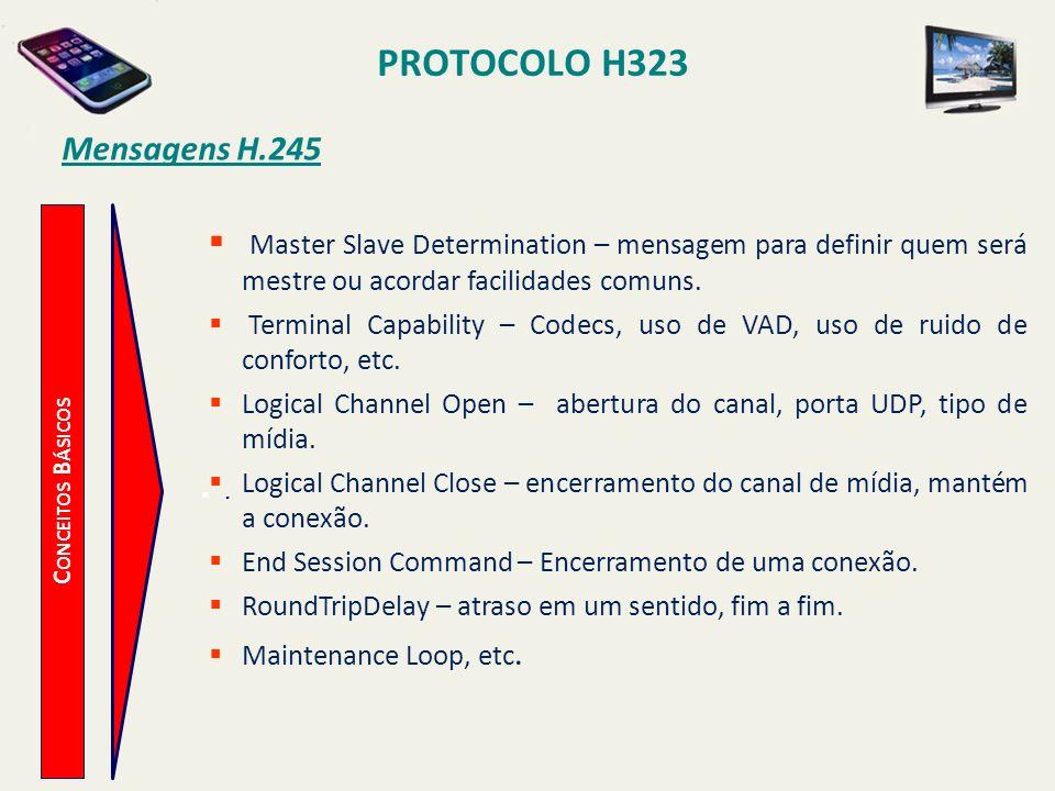 PROTOCOLO H323 Mensagens H.245