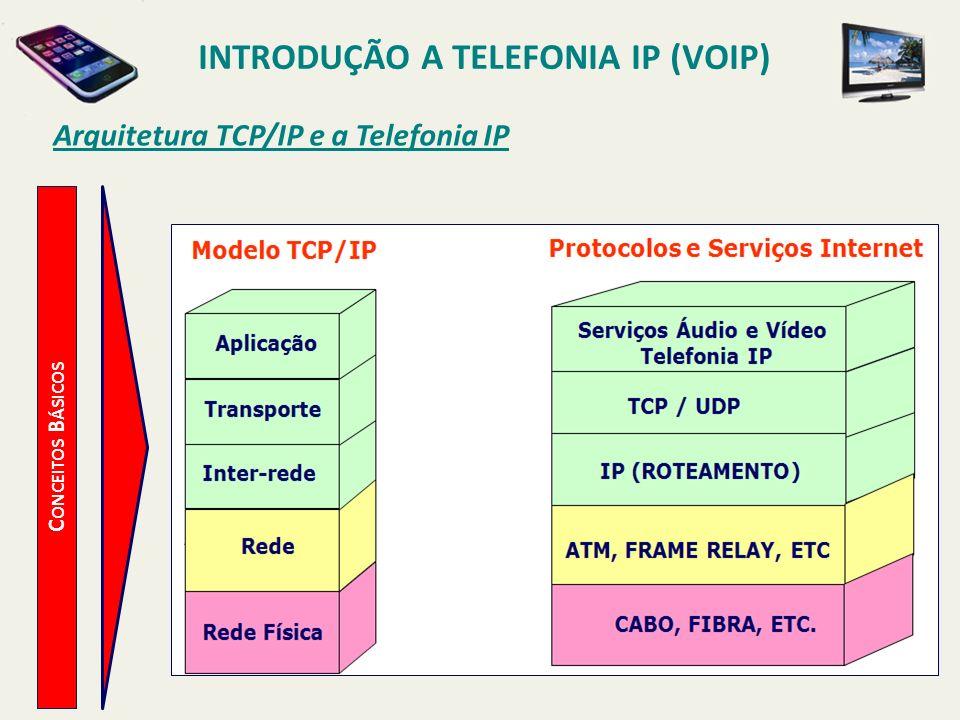 Introdução a Telefonia IP (VoIP) Arquitetura TCP/IP e a Telefonia IP