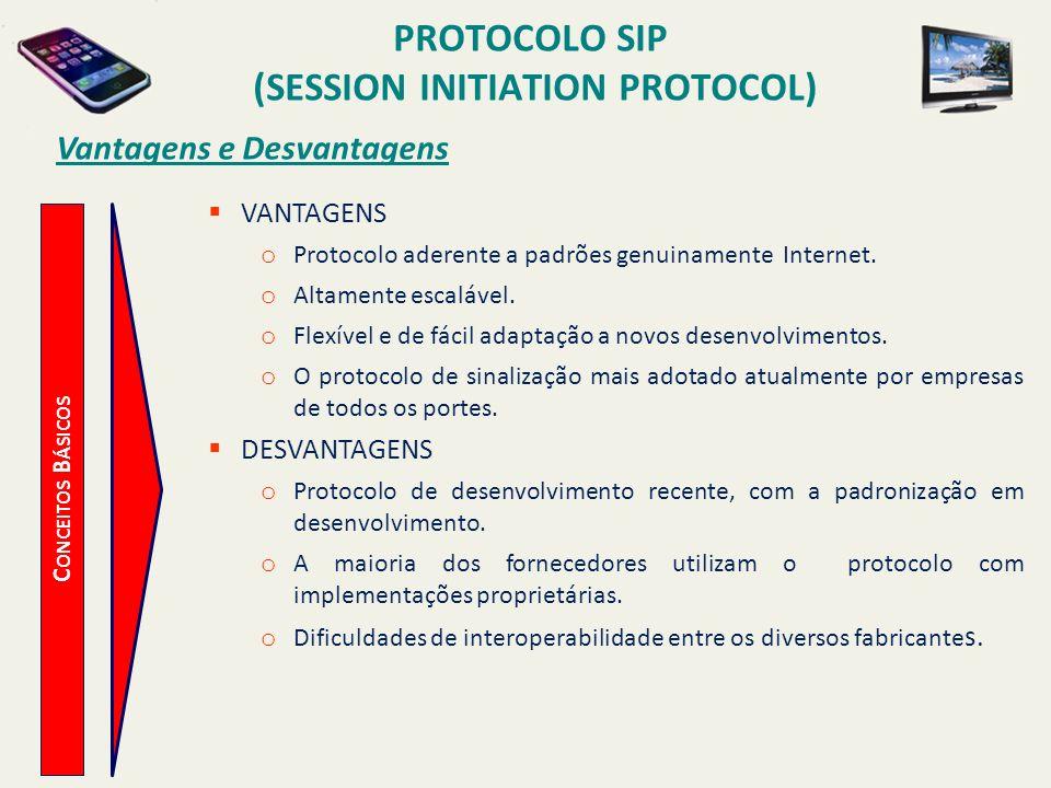 (session Initiation Protocol) Vantagens e Desvantagens