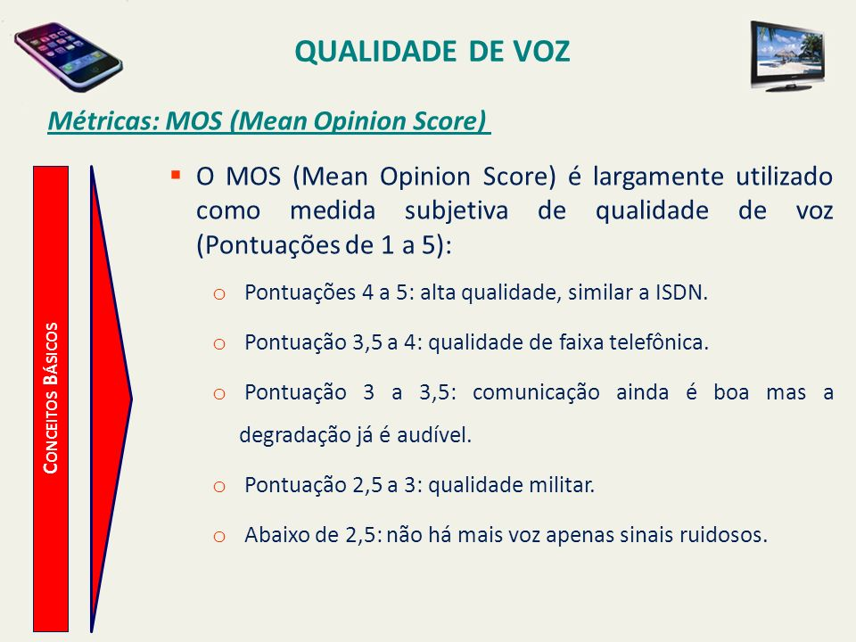 Métricas: MOS (Mean Opinion Score)