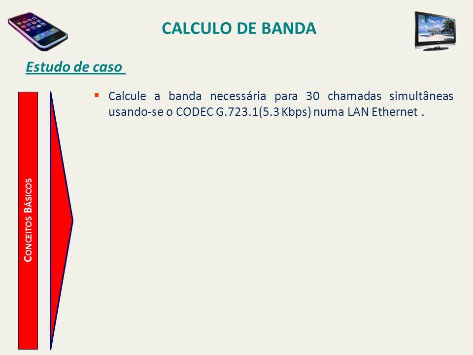 CALCULO DE BANDA Estudo de caso
