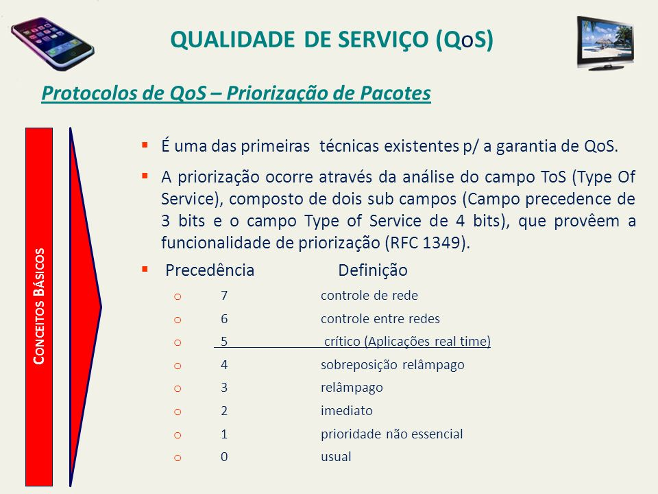 Protocolos de QoS – Priorização de Pacotes