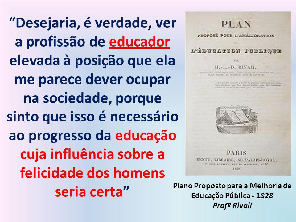 Plano Proposto para a Melhoria da Educação Pública - 1828