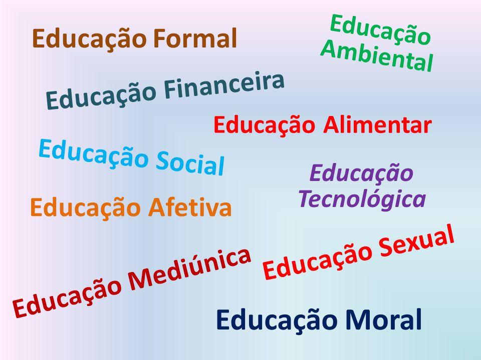 Educação Moral Educação Formal Educação Financeira Educação Social