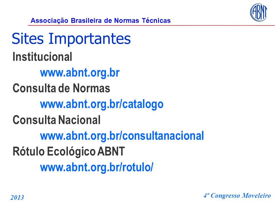 Sites Importantes Institucional www.abnt.org.br Consulta de Normas