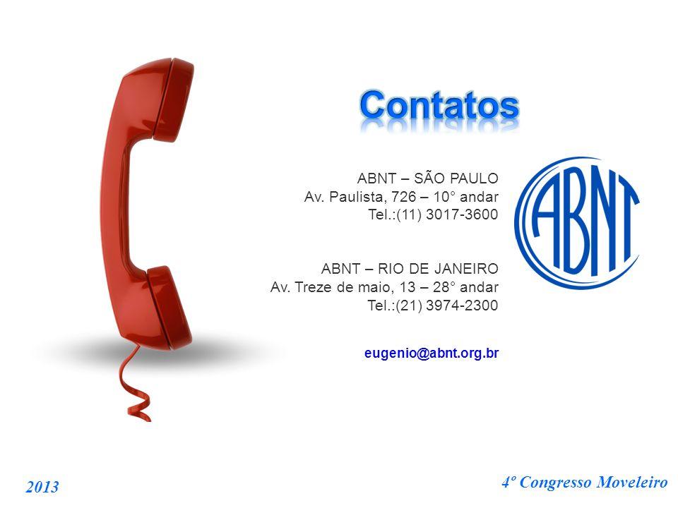 Contatos ABNT – SÃO PAULO 4º Congresso Moveleiro 2013