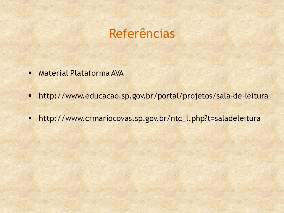 Referências Material Plataforma AVA