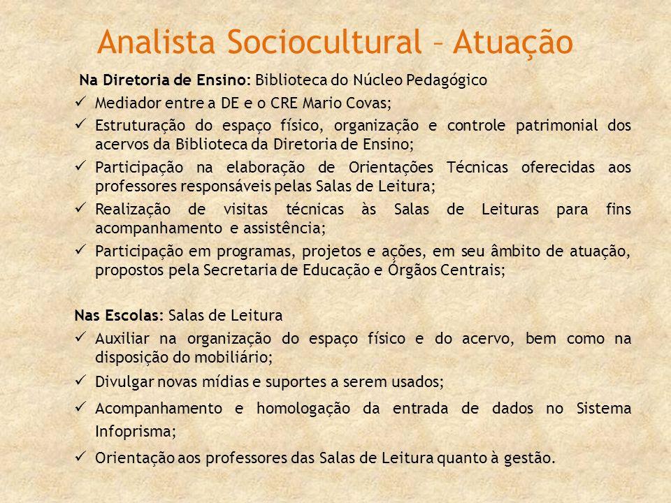 Analista Sociocultural – Atuação