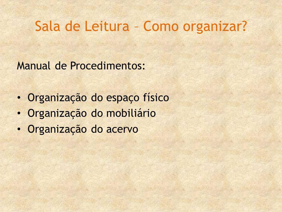 Sala de Leitura – Como organizar