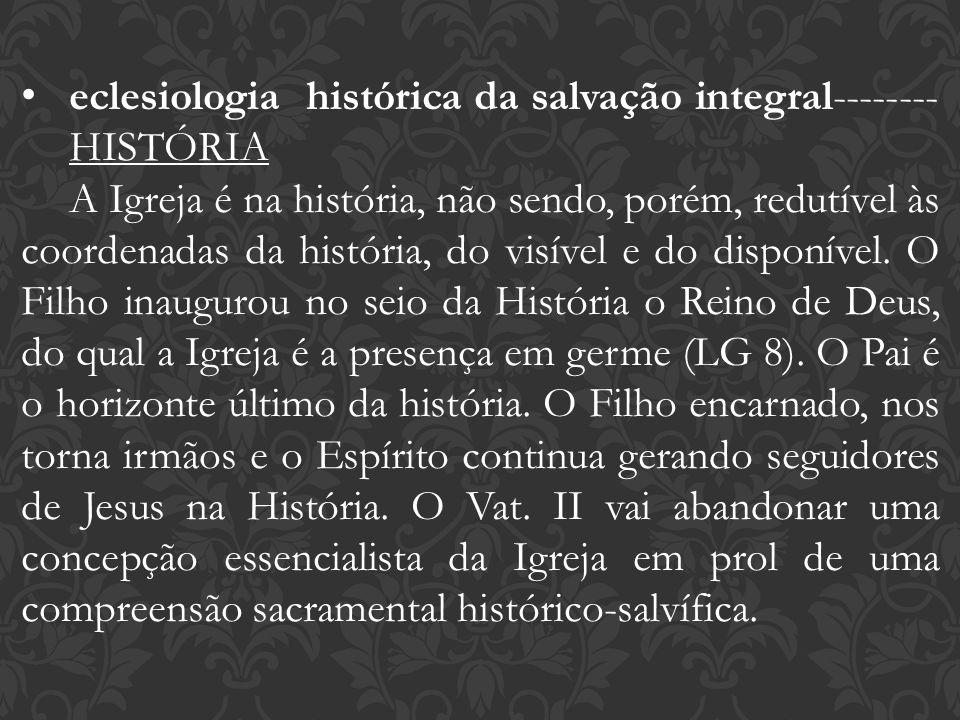 eclesiologia histórica da salvação integral-------- HISTÓRIA