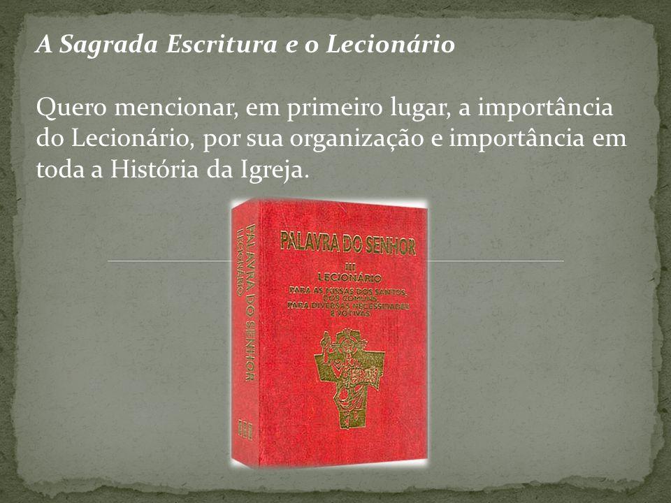 A Sagrada Escritura e o Lecionário
