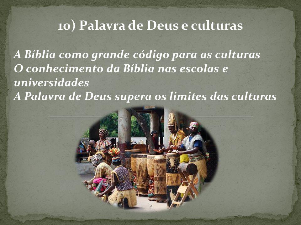 10) Palavra de Deus e culturas