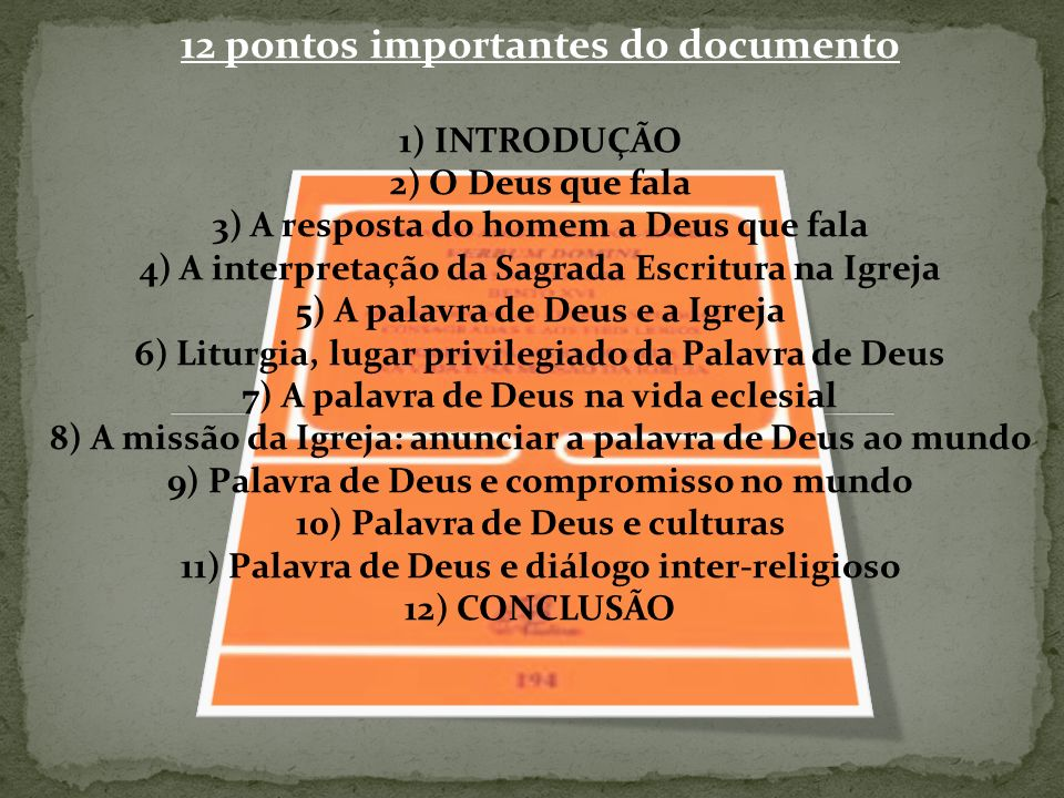 12 pontos importantes do documento