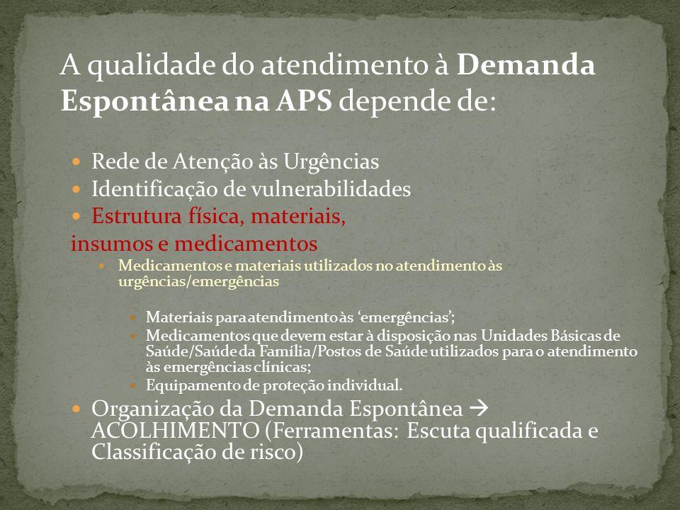 A qualidade do atendimento à Demanda Espontânea na APS depende de:
