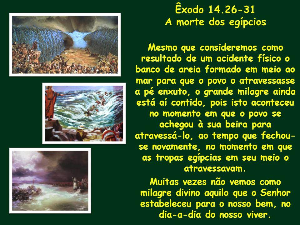 Êxodo 14.26-31 A morte dos egípcios