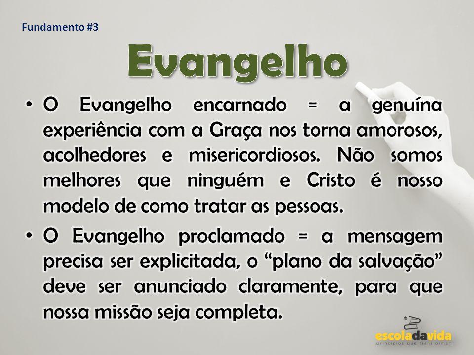 Fundamento #3 Evangelho.