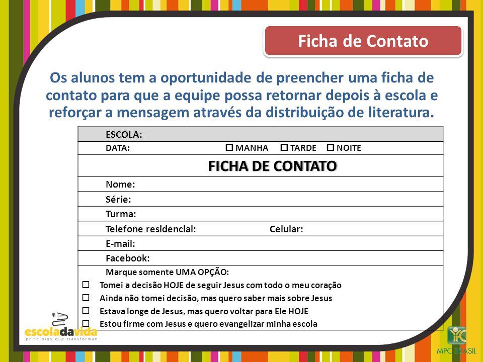 Ficha de Contato FICHA DE CONTATO