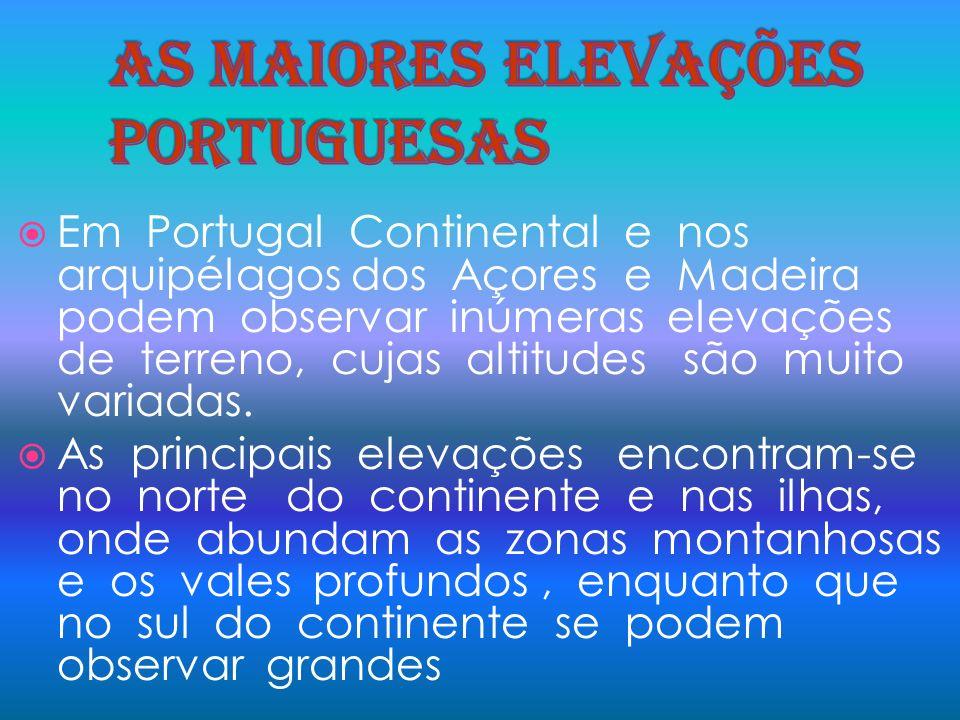 As maiores elevações portuguesas