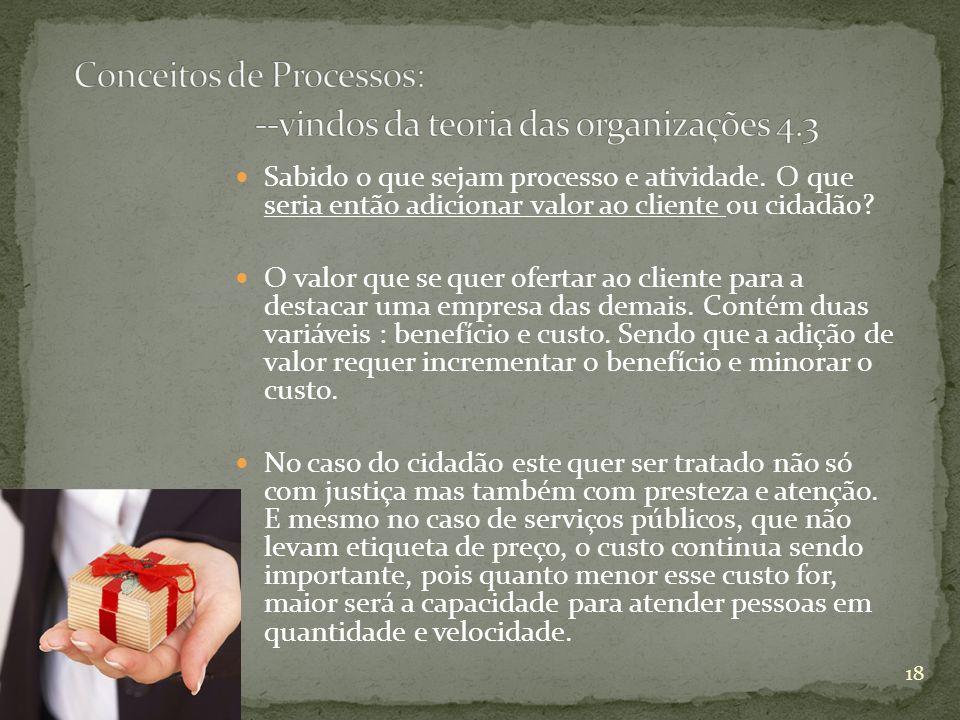 Conceitos de Processos: --vindos da teoria das organizações 4.3
