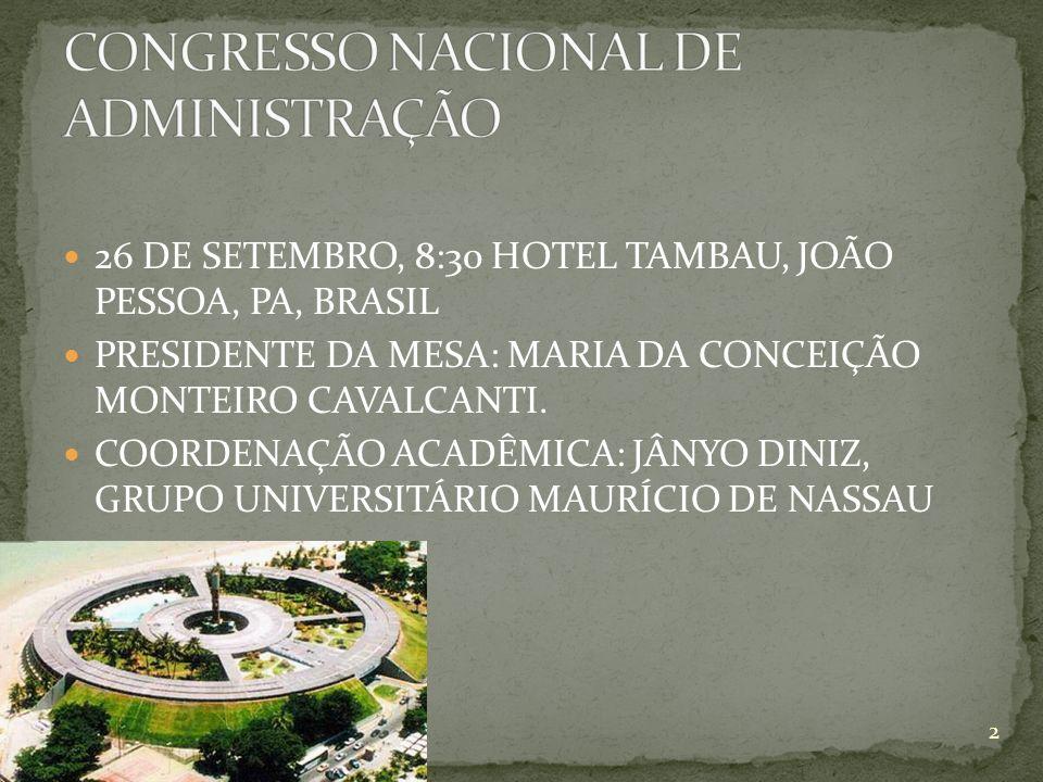 CONGRESSO NACIONAL DE ADMINISTRAÇÃO