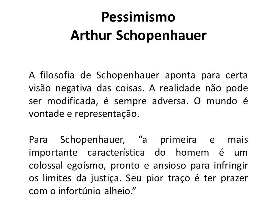 Pessimismo Arthur Schopenhauer