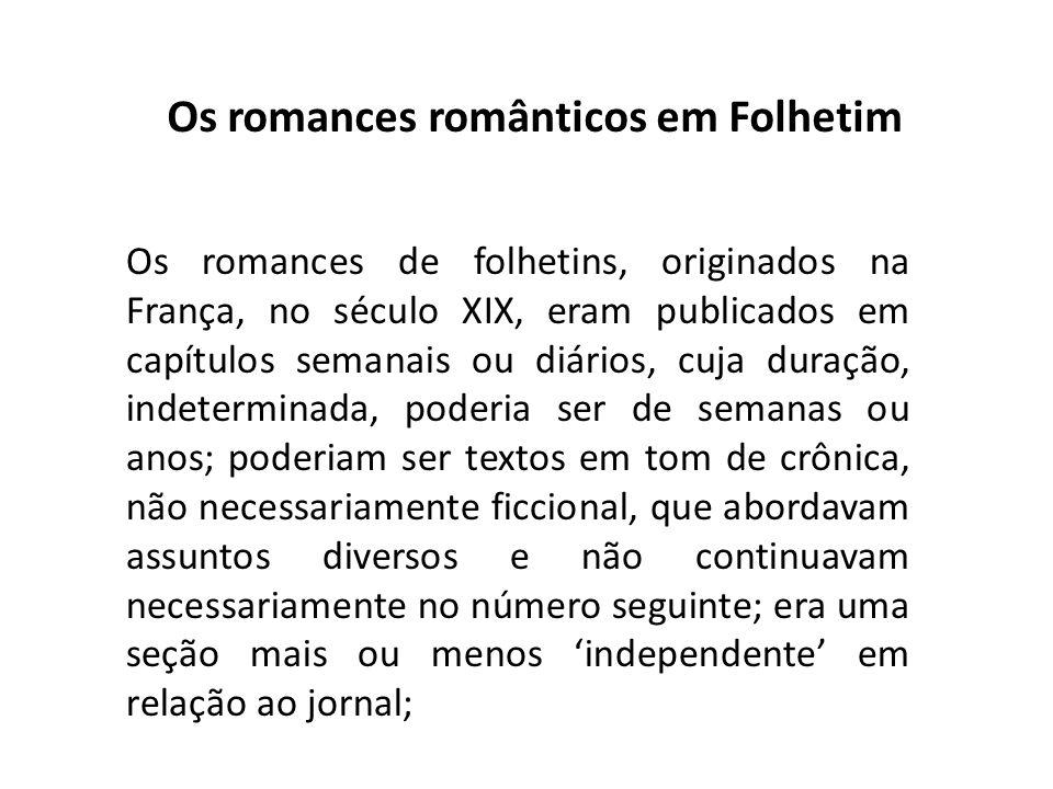 Os romances românticos em Folhetim