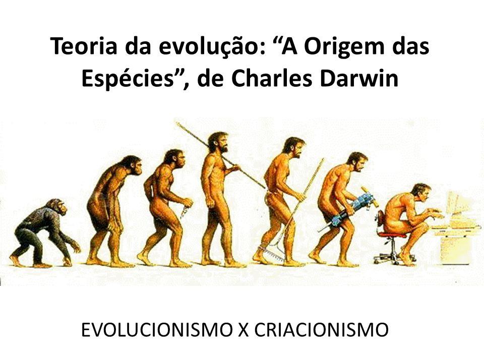 Teoria da evolução: A Origem das Espécies , de Charles Darwin