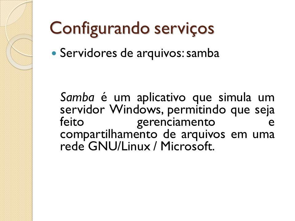 Configurando serviços
