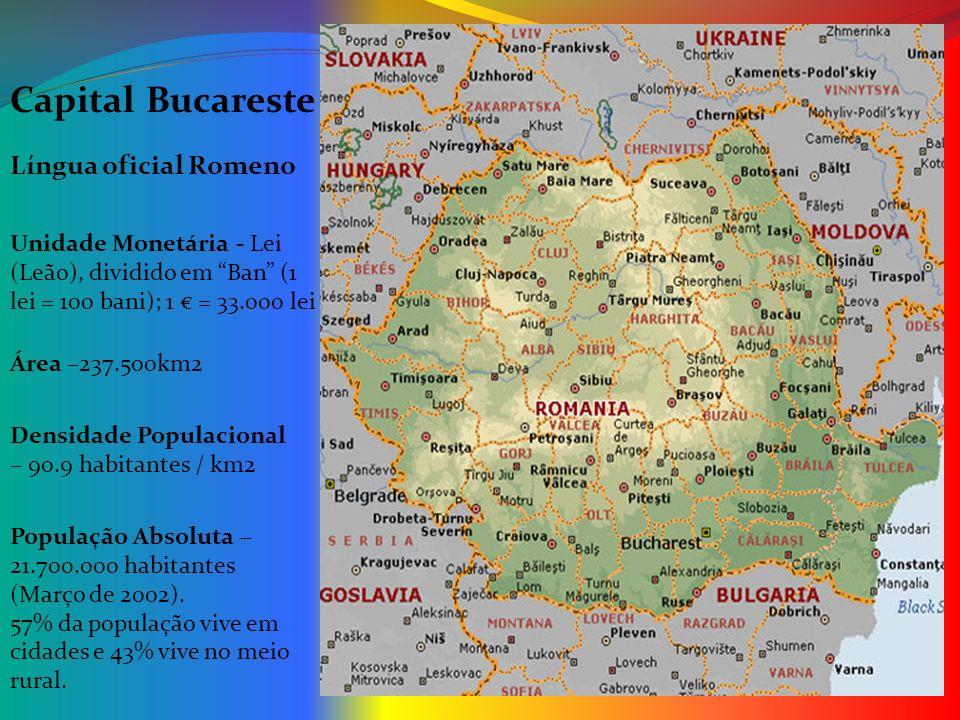 Capital Bucareste Língua oficial Romeno