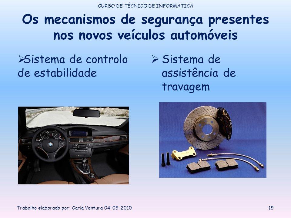 Os mecanismos de segurança presentes nos novos veículos automóveis