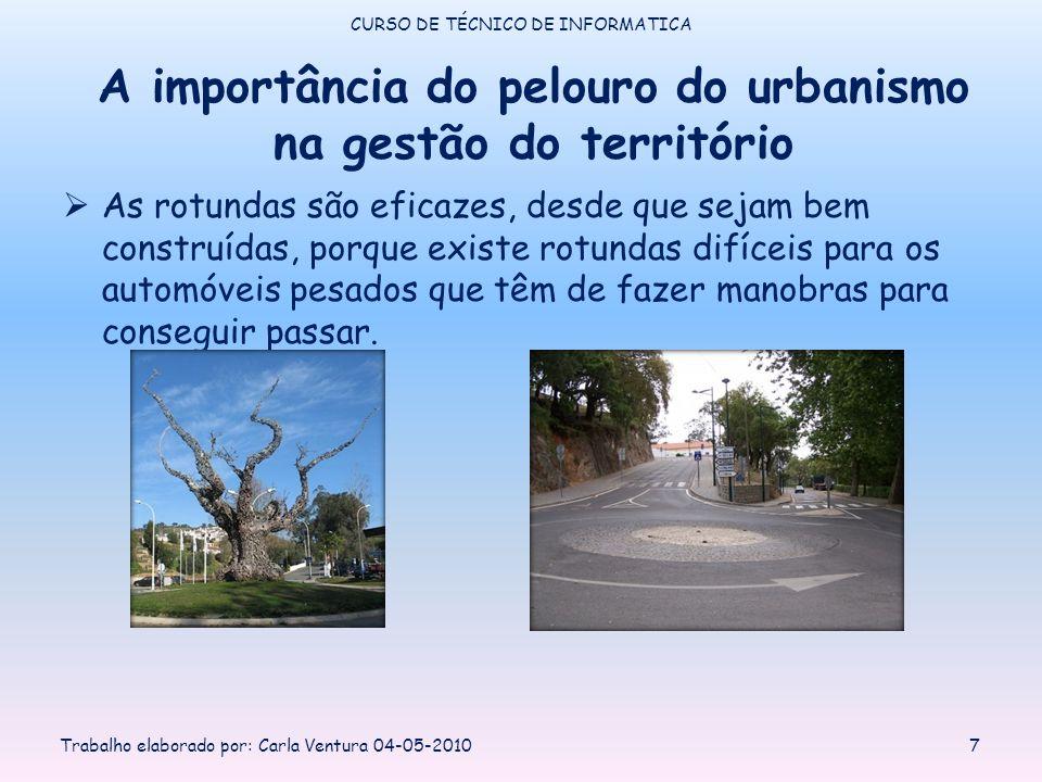 A importância do pelouro do urbanismo na gestão do território