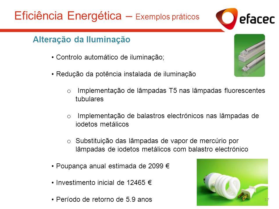 Eficiência Energética – Exemplos práticos